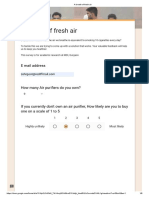 A Breath of Fresh Air Survey
