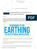 Responsibility for earthing of an electrical.pdf