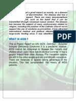 Sudhansu Ivestigatory Project on Aids
