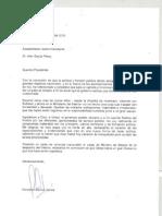 Carta de Renuncia Ministro Barrios