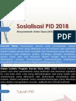 Sosialisasi PID 2018_MAD I Bone_3 Agustus 2018