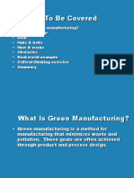 Green Manufacturing Basics