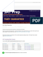 SAT Coaching Online