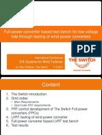 Full-power Converter Based Test Bench for Low Voltage