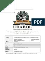 """Estudio de La Empresa ENPEG - """"Servicios Petroleros y Energéticos"""", Realizando Una Investigación Sobre La Ventaja Competitiva."""