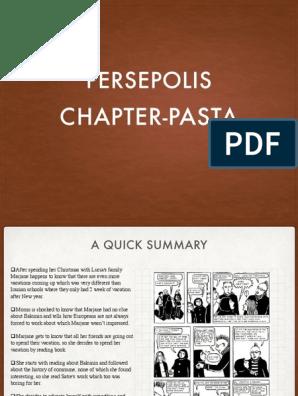 Persepolis Pasta Iran Politics
