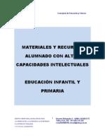 Recursos para Altas Capacidades Junta Castilla La Mancha