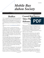 Fall 2010 Mobile Bay Audubon Society Newsletters