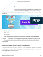 What is Data Science - Introduction to Data Science