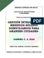 Gestión ntegral de RSD para Grandes ciudades Tesis 2000 Perú