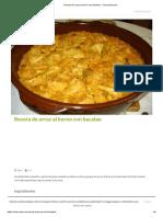Receta de Arroz Al Horno Con Bacalao - Unareceta.com