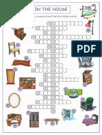 In the House Crossword Puzzle Crosswords Icebreakers Oneonone Activities Tests w 40439