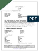 Ficha Tecnica Urea