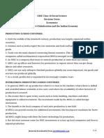 10 Social Science Economics Revision Notes Ch4