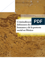 criminalización de defensores