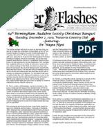 November-December 2010 Flicker Flashes Newsletter, Birmingham Audubon Society