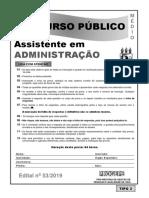 Assistente Em Administracao Tipo 2
