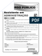 Assistente Em Administracao Tipo 3