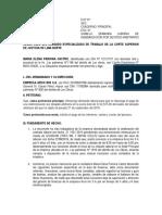 Demanda de despido arbitrario (MODELO)