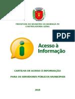 Cartilha Acesso Informacao