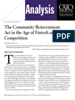 The Community Reinvestment Act in the Age of Fintech and Bank Competition