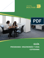GUIA PROGRAMA DE ERGONOMÍA Y VIDA COTIDIANA