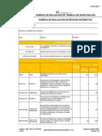 Rúbrica de evaluación de trabajo de investigación