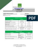 Ficha técnica de tuberias
