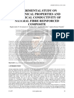 Experimental Study on Mechanical Properties and Electrical Conductivity of Natural Fibre Reinforced Composite 1477