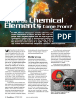 where do elements come from article