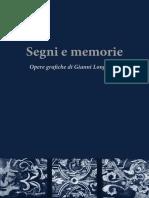 Estratto catalogo Gianni Longinotti- Segni e memorie. opere grafiche 2018-