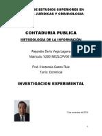 Trabajo Investigacion Experimental