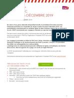 Communiqué de presse de la SNCF