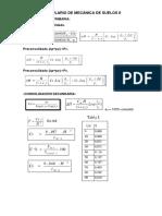 Formulario de Mecánica de Suelos II