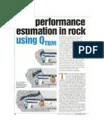 TBM Performance in Rock Using QTBM