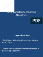 Time Complexity Sorintg