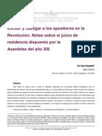 Irina Polastrelli - Excluir y castigar a los opositores en la Revolución. Notas sobre el juicio de residencia dispuesto por la Asamblea del año XIII.pdf