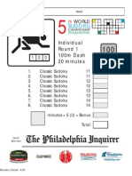 Sudoku - de la Campionatul Mondial