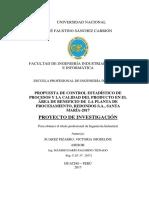PROPUESTA DE CONTROL ESTADÍSTICO DE PROCESOS Y LA CALIDAD DEL PRODUCTO EN EL ÁREA DE BENEFICIO DE LA PLANTA DE PROCESAMIENTO, REDONDOS S.A., SANTA MARÍA-2017