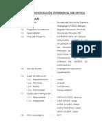 Proyecto de Investigación Experimental Descriptivo2