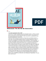 Millennials- The Me Me Me Generation