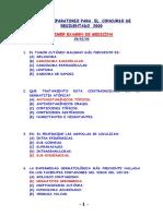 Examenes Curso Pre Residentado Unmsm