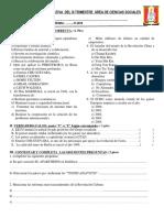 Evaluación Del III Trim. Ciencias Sociales 2019