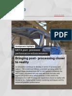 META post-processor Performance Advances