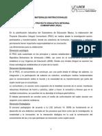 El Proyecto Educativo Integral Comunitario (Peic) (1)