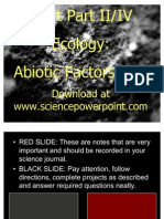 Ecology Abiotic Factors Unit Powerpoint Part II/IV for Educators - Download Powerpoint at www. science powerpoint .com