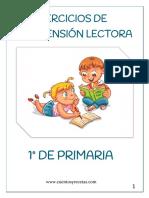 Cuadernillo Comprension Lectora 1º Primaria