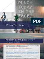 Material Rhe t Writing Workshop