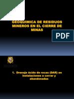 Cap 5 Geoquimica de Residuos Mineros en El Cierre de Minas