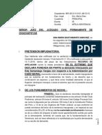 apelacion DE SENTENCIA POR INDEMNIZACION